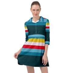 Sea Water Mini Skater Shirt Dress
