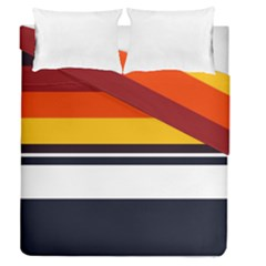 Retro Sunset Duvet Cover Double Side (queen Size) by tmsartbazaar