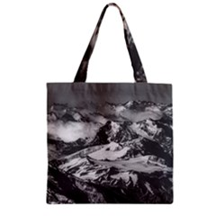 Black And White Andes Mountains Aerial View, Chile Zipper Grocery Tote Bag