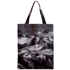 Black And White Andes Mountains Aerial View, Chile Zipper Classic Tote Bag