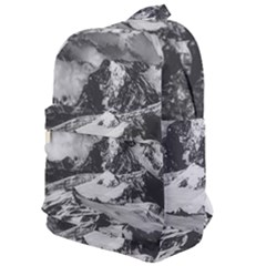 Black And White Andes Mountains Aerial View, Chile Classic Backpack