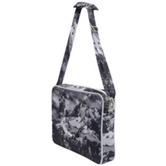 Black And White Andes Mountains Aerial View, Chile Cross Body Office Bag