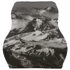 Black And White Andes Mountains Aerial View, Chile Car Seat Velour Cushion