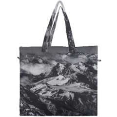 Black And White Andes Mountains Aerial View, Chile Canvas Travel Bag