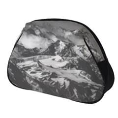 Black And White Andes Mountains Aerial View, Chile Full Print Accessory Pouch (small)