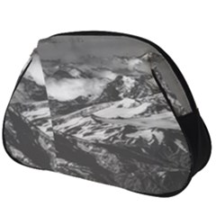 Black And White Andes Mountains Aerial View, Chile Full Print Accessory Pouch (big)
