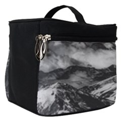 Black And White Andes Mountains Aerial View, Chile Make Up Travel Bag (small)