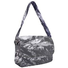 Black And White Andes Mountains Aerial View, Chile Courier Bag