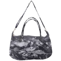 Black And White Andes Mountains Aerial View, Chile Removal Strap Handbag