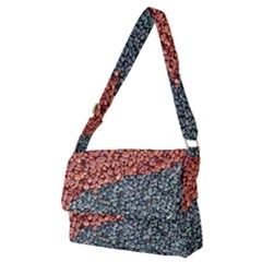 Gravel Print Pattern Texture Full Print Messenger Bag (m)