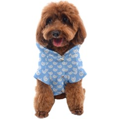 Cute Cat Faces White And Blue  Dog Coat