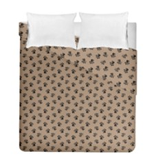 Cat Dog Animal Paw Prints Pattern Brown Black Duvet Cover Double Side (full/ Double Size)
