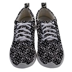 Black And White Decorative Design Pattern Athletic Shoes by SpinnyChairDesigns