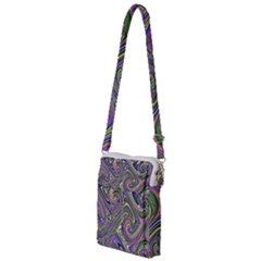 Abstract Art Purple Swirls Pattern Multi Function Travel Bag by SpinnyChairDesigns