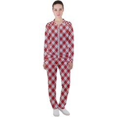 Picnic Gingham Red White Checkered Plaid Pattern Casual Jacket And Pants Set