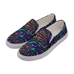 Multicolored Abstract Art Pattern Women s Canvas Slip Ons by SpinnyChairDesigns