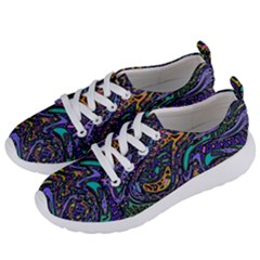 Multicolored Abstract Art Pattern Women s Lightweight Sports Shoes by SpinnyChairDesigns