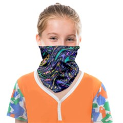 Multicolored Abstract Art Pattern Face Covering Bandana (kids) by SpinnyChairDesigns