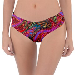 Abstract Art Multicolored Pattern Reversible Classic Bikini Bottoms by SpinnyChairDesigns