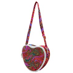 Abstract Art Multicolored Pattern Heart Shoulder Bag