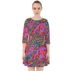 Abstract Art Multicolored Pattern Smock Dress by SpinnyChairDesigns