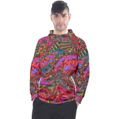 Abstract Art Multicolored Pattern Men s Pullover Hoodie by SpinnyChairDesigns