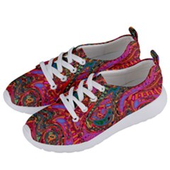 Abstract Art Multicolored Pattern Women s Lightweight Sports Shoes by SpinnyChairDesigns