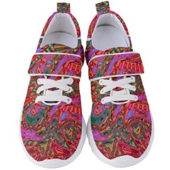 Abstract Art Multicolored Pattern Women s Velcro Strap Shoes by SpinnyChairDesigns