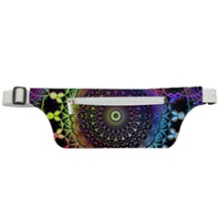 Colorful Rainbow Colored Arabesque Mandala Kaleidoscope  Active Waist Bag