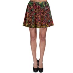 Stylish Fall Colors Camouflage Skater Skirt by SpinnyChairDesigns