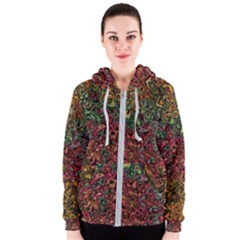 Stylish Fall Colors Camouflage Women s Zipper Hoodie