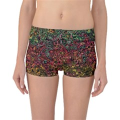 Stylish Fall Colors Camouflage Boyleg Bikini Bottoms by SpinnyChairDesigns