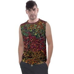 Stylish Fall Colors Camouflage Men s Regular Tank Top