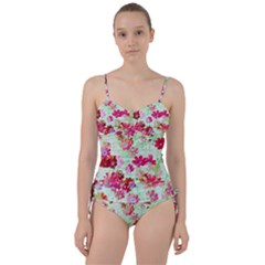 Cosmos Flowers Red Sweetheart Tankini Set