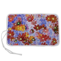 Cosmos Flowers Brown Pen Storage Case (s)