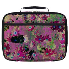 Cosmos Flowers Dark Red Full Print Lunch Bag