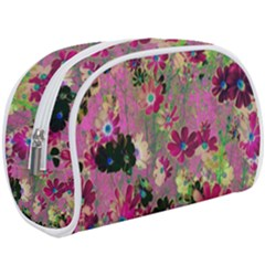 Cosmos Flowers Dark Red Makeup Case (large)