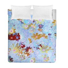 Cosmos Flowers Ligh Blue Duvet Cover Double Side (full/ Double Size)