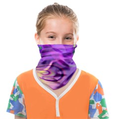 Infinity Painting Purple Face Covering Bandana (kids) by Cveti