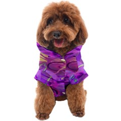 Infinity Painting Purple Dog Coat by Cveti