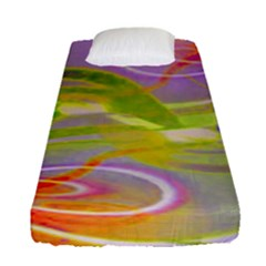 Infinity Painting Green Fitted Sheet (single Size)