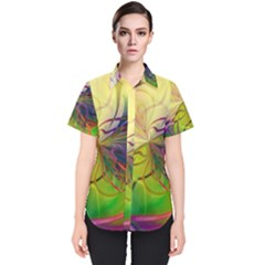 Rainbow Painting Patterns 1 Women s Short Sleeve Shirt