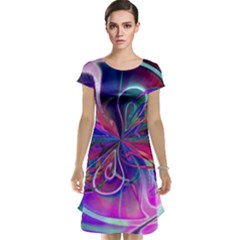 Rainbow Painting Pattern 2 Cap Sleeve Nightdress by Cveti