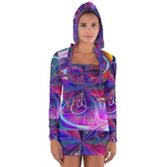 Rainbow Painting Pattern 2 Long Sleeve Hooded T-shirt by Cveti