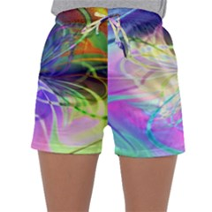 Rainbow Painting Patterns 3 Sleepwear Shorts by Cveti