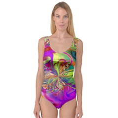Rainbow Painting Pattern 4 Princess Tank Leotard  by Cveti