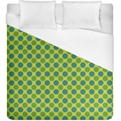 Green Polka Dots Spots Pattern Duvet Cover (king Size)