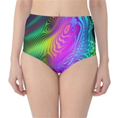 Psychedelic Swirl Trippy Abstract Art Classic High-waist Bikini Bottoms