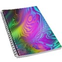 Psychedelic Swirl Trippy Abstract Art 5.5  x 8.5  Notebook View1