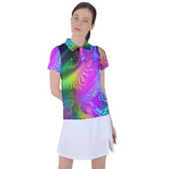 Psychedelic Swirl Trippy Abstract Art Women s Polo Tee